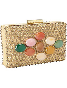 Beaded Evening Box Bag Clutch by Moyna Handbags