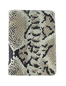 Luxury Python Embossed Leather Passport Cover by pb travel