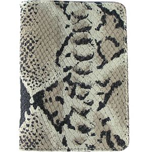 Luxury Python Embossed Leather Passport Cover