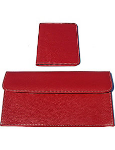 Luxury Leather Travel Pouch and Passport Cover by pb travel