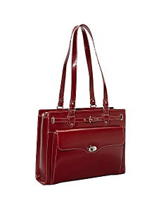 Joliet Leather Laptop Tote - eBags Exclusive by McKlein USA