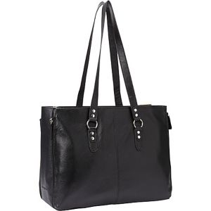 Leather Expandable Laptop Tote