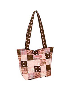 Medium Patched Tote, Mocha Patch by Donna Sharp