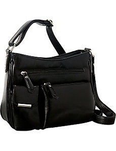 Medium Leather Shoulder Bag by La Diva