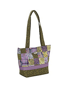 Medium Patched Tote - Grape Patch by Donna Sharp