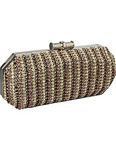 Multi Color Crystal Clutch by J. Furmani