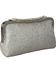 Crystal Metal Mesh Evening Bag by J. Furmani