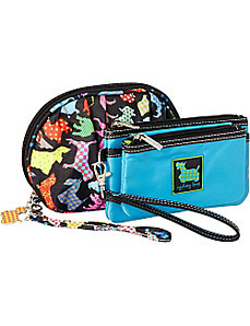 Best in Show Wristlet and Ruched Cosmetic Bag by Sydney Love