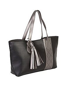 Metallic Medium Punch Tote by Jesselli Couture
