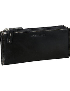 Montana Collection Slim Double Zip Wallet by Jack Georges