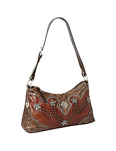 Desert Wildflower Zip top Shoulder Bag by American West