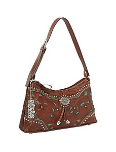 Lady Lace Zip-top Shoulder Bag by American West