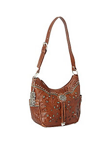 Lady Lace Zip-top Hobo by American West
