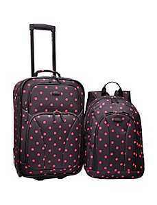 2-Piece Polka Dot Carry-On  by U.S. Traveler