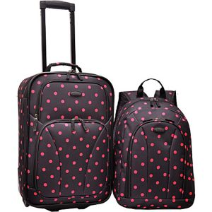 2-Piece Polka Dot Carry-On
