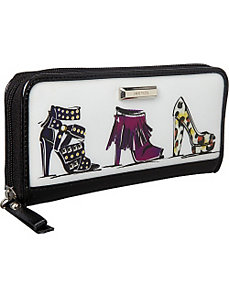 Go To Glamour Small Zip Around by Nine West Handbags