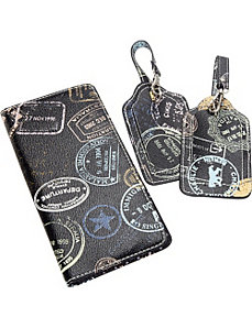 Bon Voyage Passport Holder and 2 piece Boxed Lugga by Sydney Love