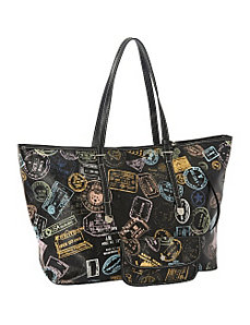 Bon Voyage Passport Print Large Tote by Sydney Love