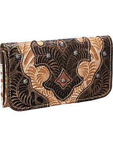 Honeysuckle Tri-Fold Wallet by American West