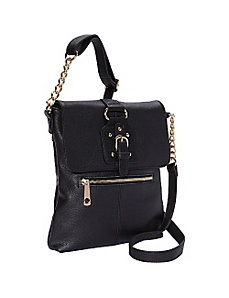 Front Buckle Flap Crossbody by R & R Collections
