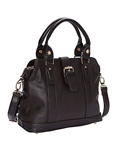 Front Buckle Tab Tote with Detachable Strap by R & R Collections