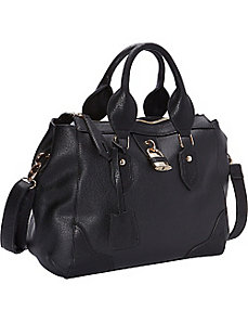 Top Zip Tote with Lock & Detachable Strap by R & R Collections
