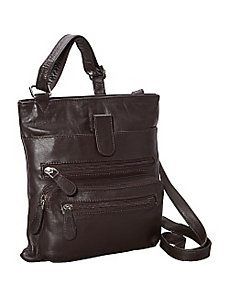 Front Zip Around Cross Body by R & R Collections