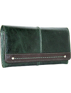Full Flap Accordion Wallet with Stich Detail by Nino Bossi