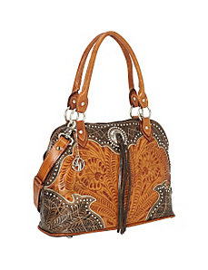 Heart of Gold Zip-Around Satchel by American West