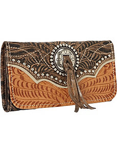 Heart of Gold Tri-Fold Wallet by American West