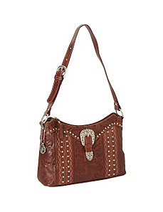 Twisted Trail Zip Top Shoulder Bag by American West