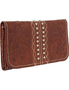 Twisted Trail Tri-Fold Wallet by American West