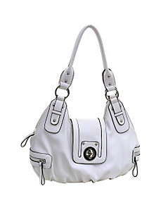 Buckle Front Shoulder Bag by Dasein