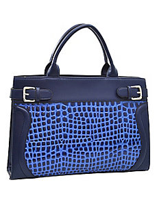 Belted Patent Croco Chic Tote with Bonus Strap by Dasein