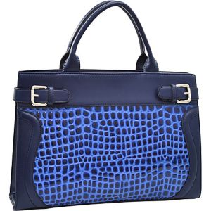 Belted Patent Croco Chic Tote with Bonus Strap