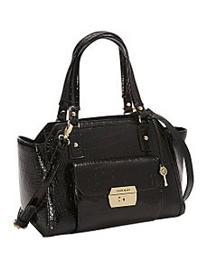 Croco Luxe II Large Satchel by Anne Klein