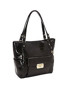 Croco Luxe II Large Tote by Anne Klein