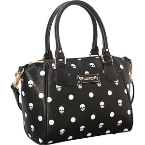 Skull Polka Dot Black Satchel