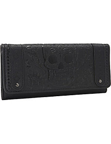Black Sugar Skull Embossed Wallet by Loungefly