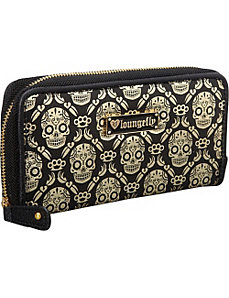 Metallic Gold/Black Sugar Skull Wallet by Loungefly