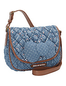 Hello Kitty Chambray w/Bow Crossbody Bag by Loungefly
