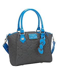 Hello Kitty Grey/Blue Embossed  Bag by Loungefly