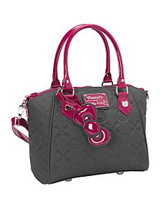 Hello Kitty Grey/Purple Embossed Bag by Loungefly