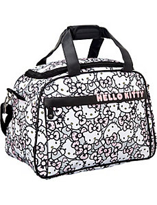 Hello Kitty Pink/Grey All Over Print Duffle by Loungefly