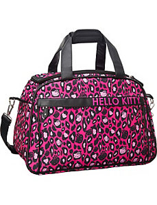 Hello Kitty Pink Leopard Print Duffle by Loungefly