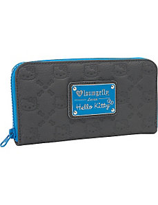 Hello Kitty Cobalt Blue Splash Embossed  Wallet by Loungefly