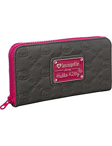Hello Kitty Purple Splash Embossed Wallet by Loungefly
