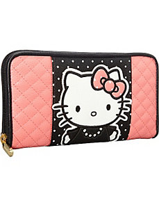 Hello Kitty Quilted Pearls White Polka Dots Wallet by Loungefly