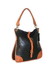Top Zip Large Slim Shoulder Bag by Nino Bossi