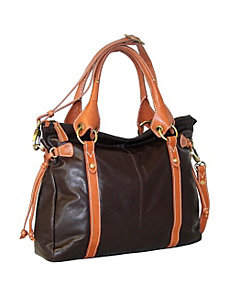 Double Handle Satchel by Nino Bossi